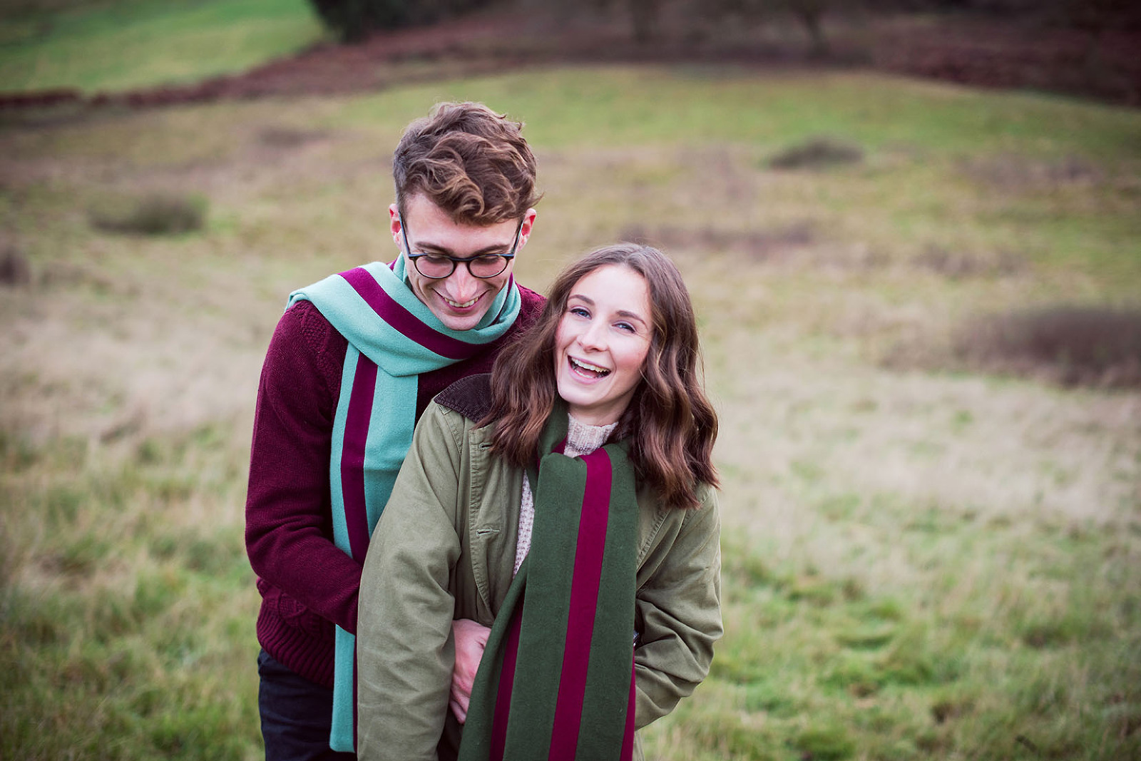 Couple in love on Surrey engagement photo shoot