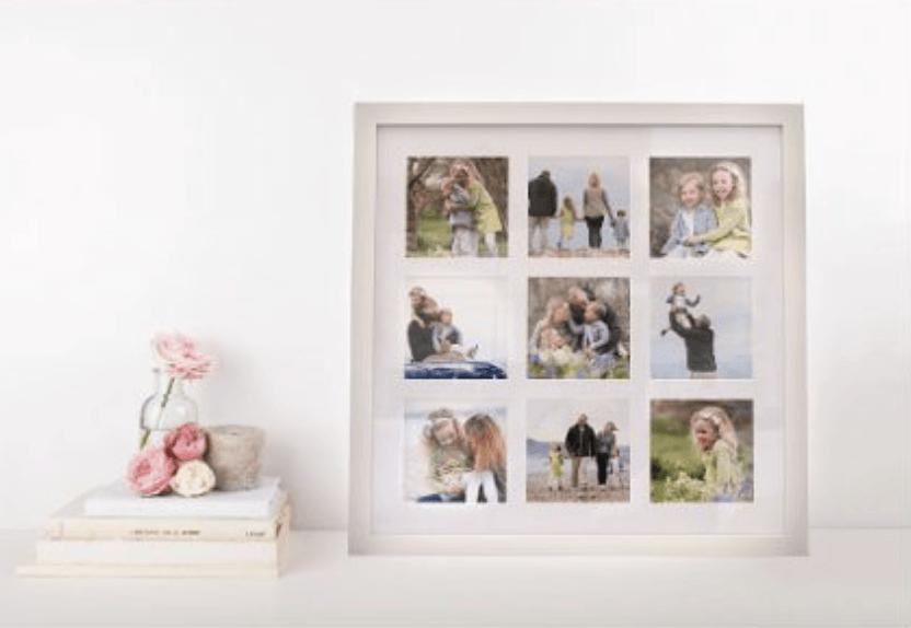 Storytelling frame of family photographs